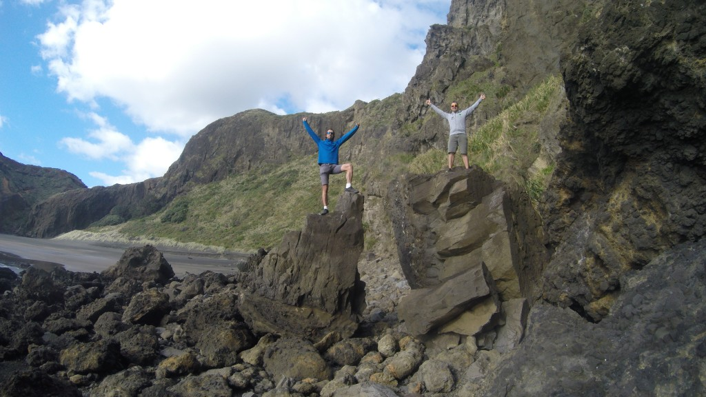 On the rocks at Wigmore Bay